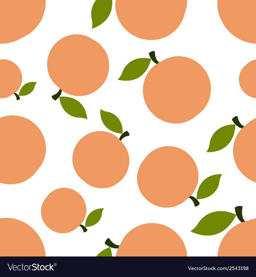 Pattern silhouette peaches vector | Price: 1 Credit (USD $1)