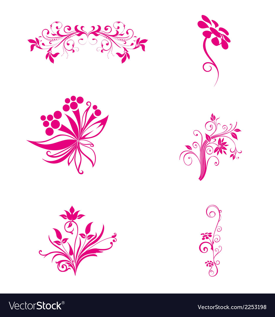 Pink flower floral vector | Price: 1 Credit (USD $1)