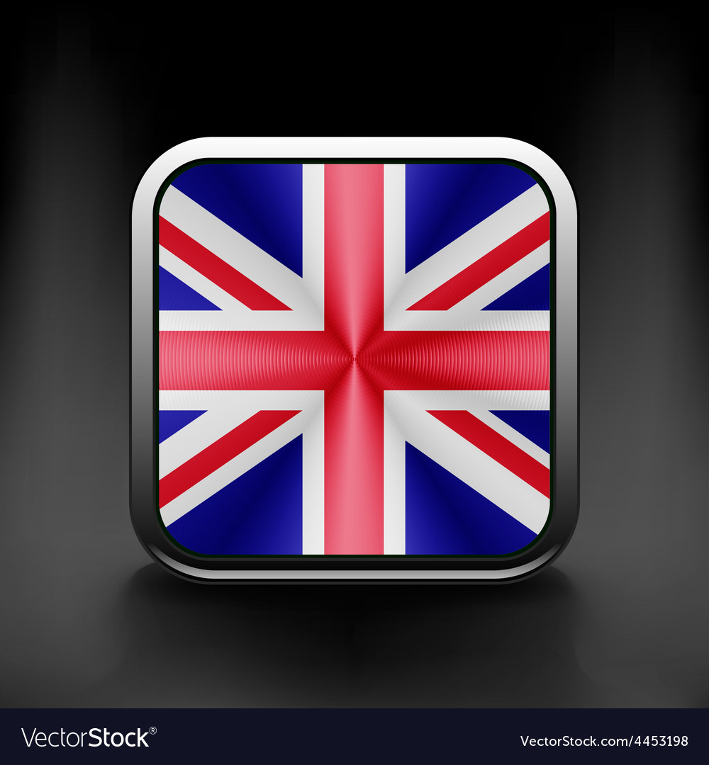 Uk icon flag national travel icon country symbol vector | Price: 1 Credit (USD $1)