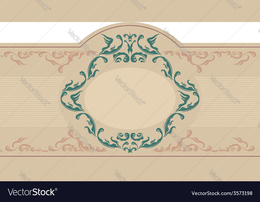 Vintage ornametal label vector | Price: 1 Credit (USD $1)
