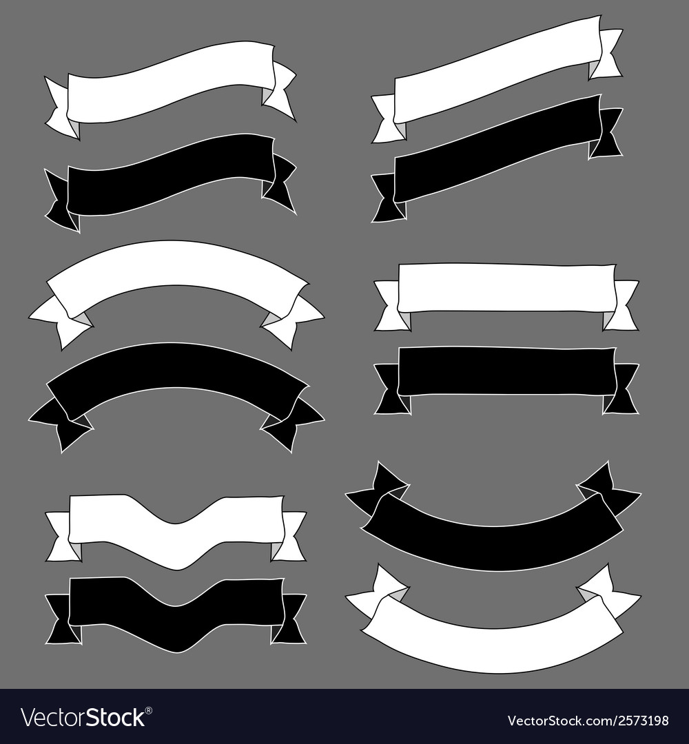 Vintage ribbons and banners design sketch vector | Price: 1 Credit (USD $1)