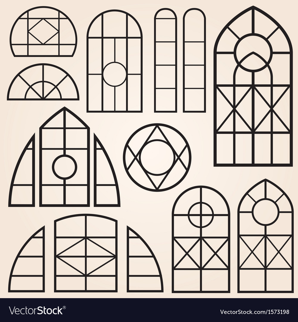 Window frames set vector | Price: 1 Credit (USD $1)