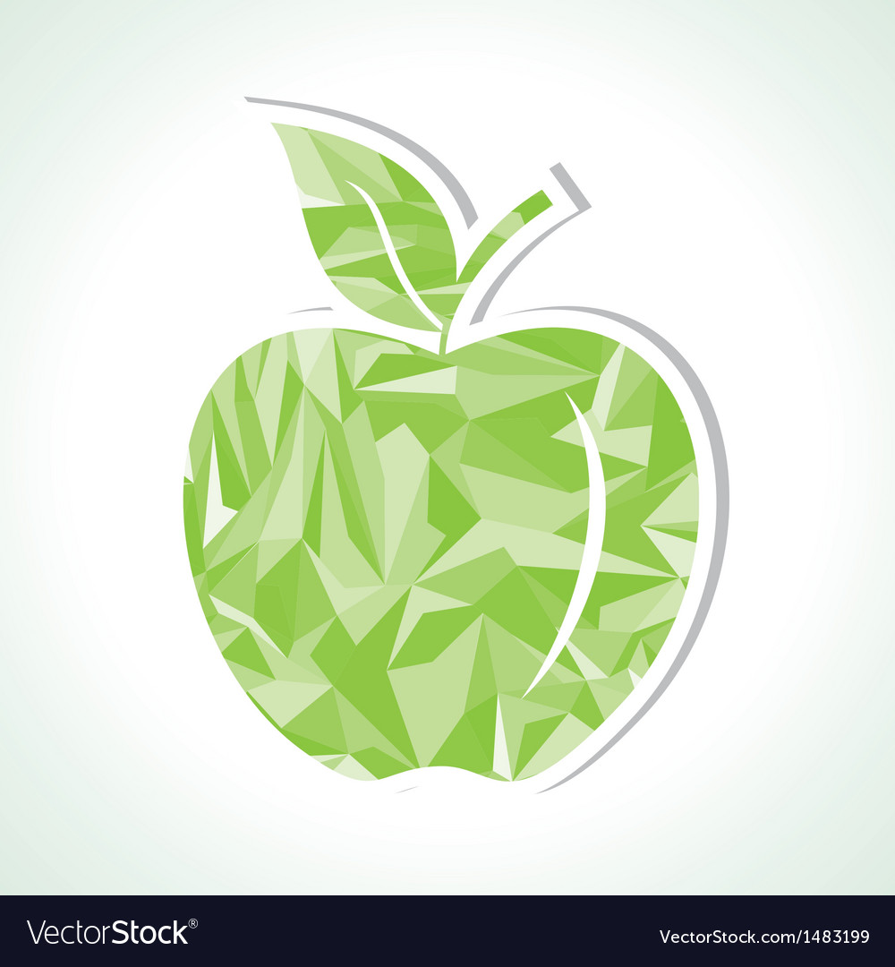 Abstract green triangle apple vector | Price: 1 Credit (USD $1)