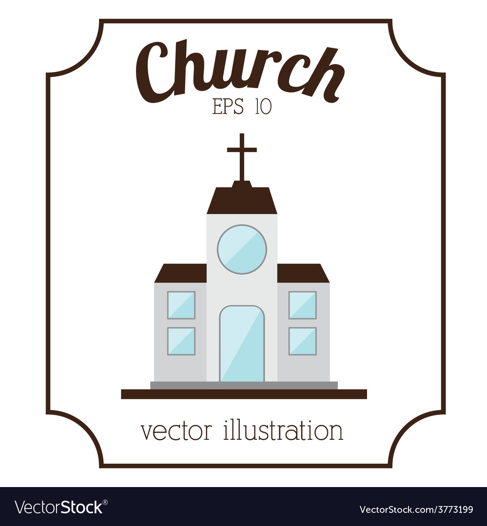 Church building vector | Price: 1 Credit (USD $1)