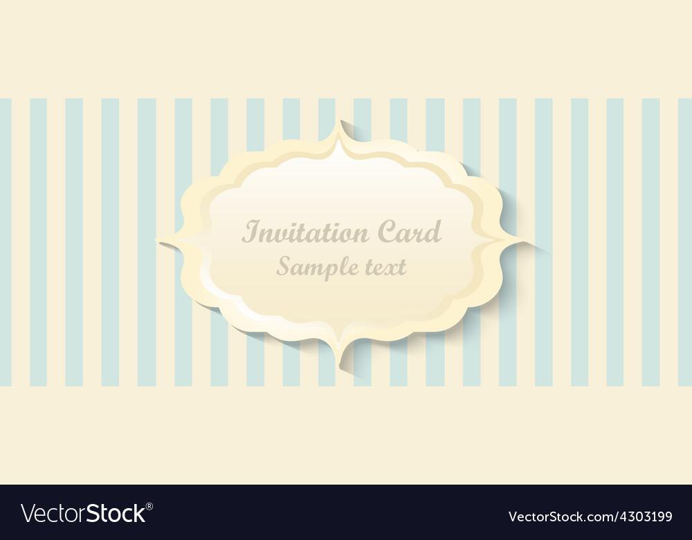 Classic romantic invitation design vector | Price: 1 Credit (USD $1)
