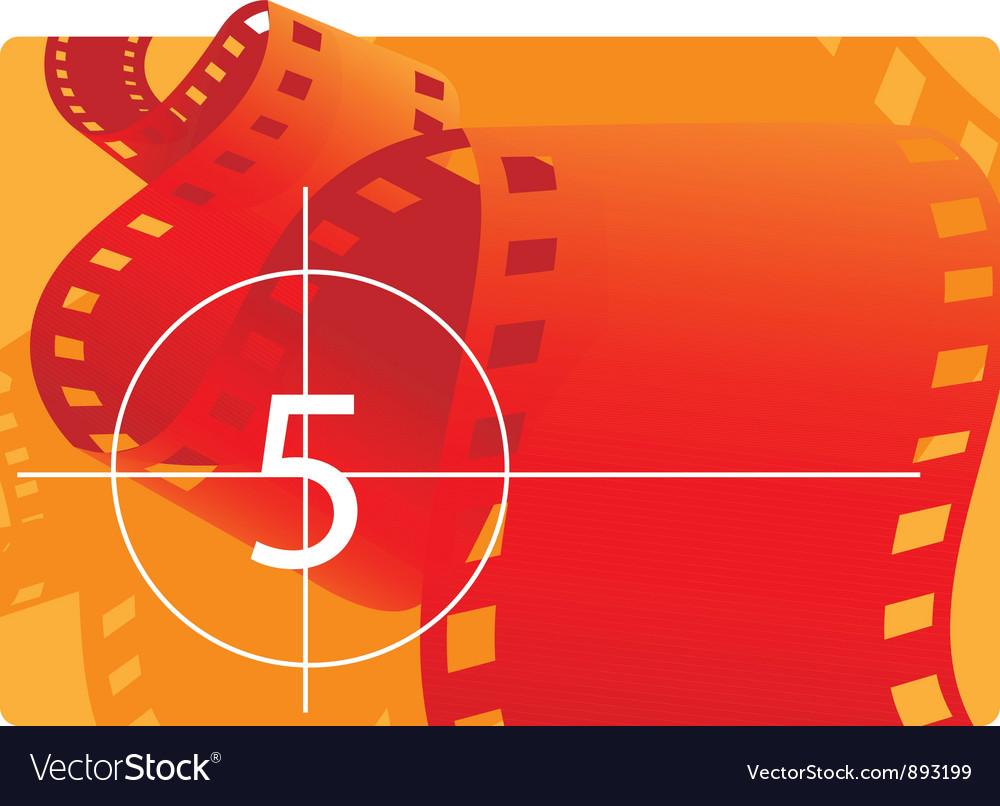 Film reel with countdown vector | Price: 1 Credit (USD $1)