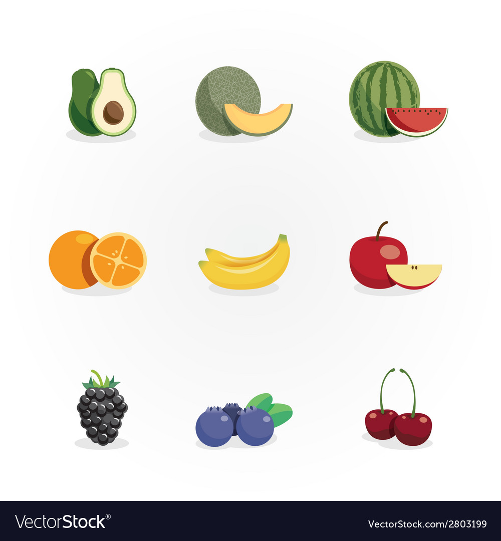Fruits icons design vector | Price: 1 Credit (USD $1)