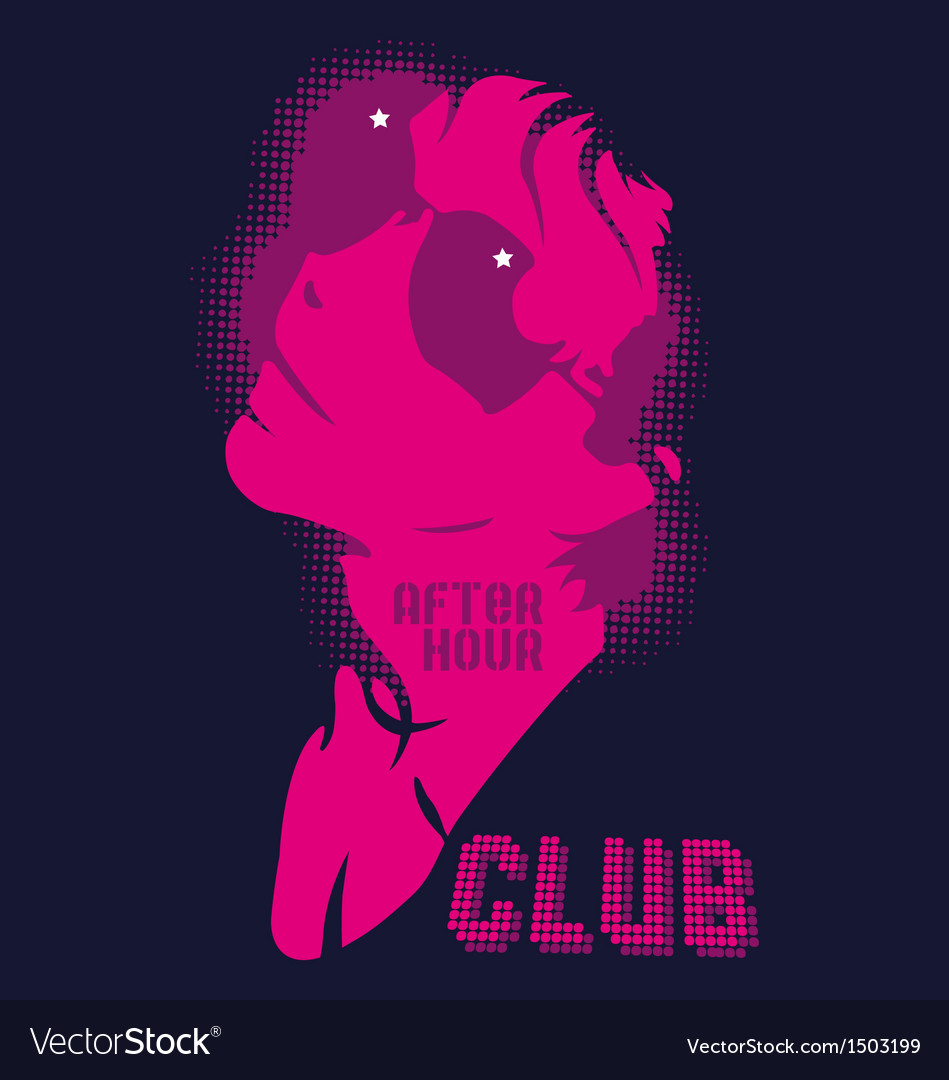 Girl in a night club after the hour vector | Price: 1 Credit (USD $1)