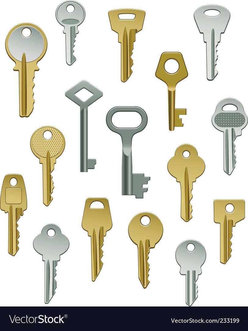 Keys vector | Price: 3 Credit (USD $3)
