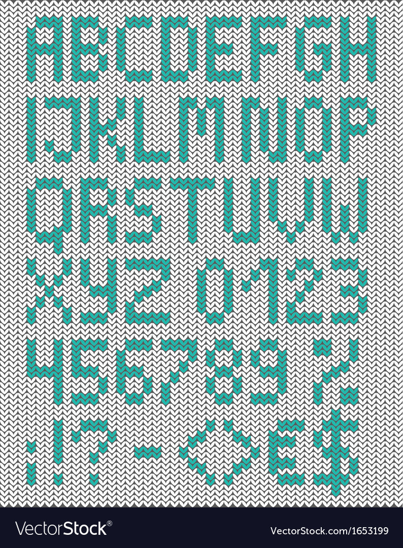 Knitted uppercase english alphabet vector | Price: 1 Credit (USD $1)