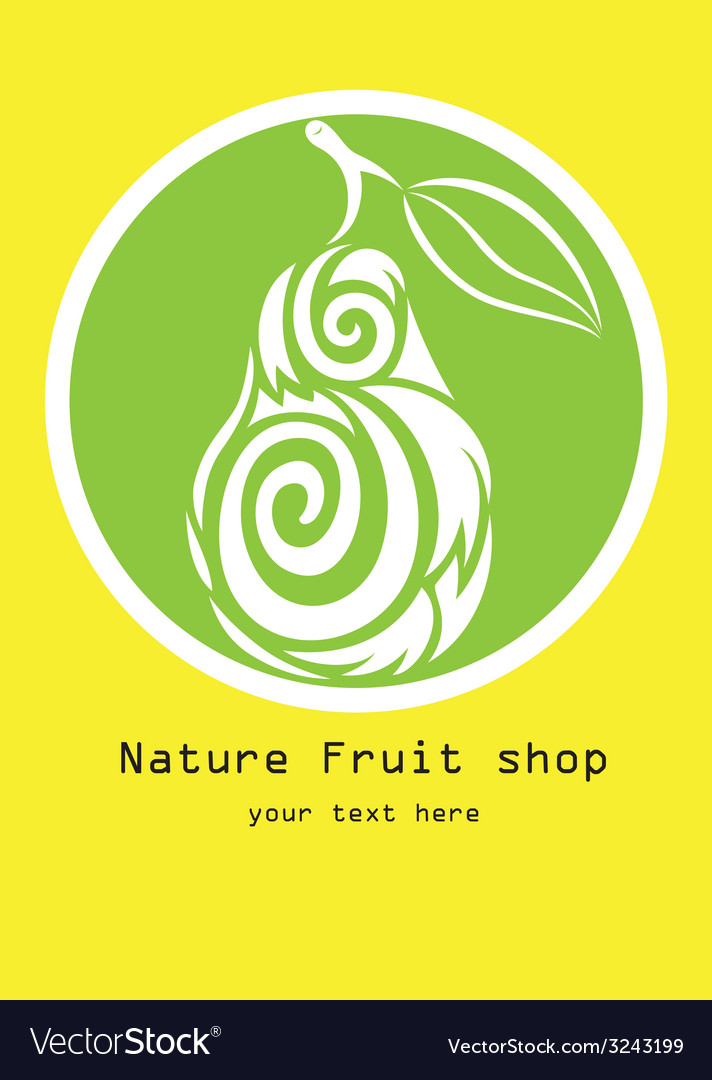 Nature fruit shop logo vector | Price: 1 Credit (USD $1)