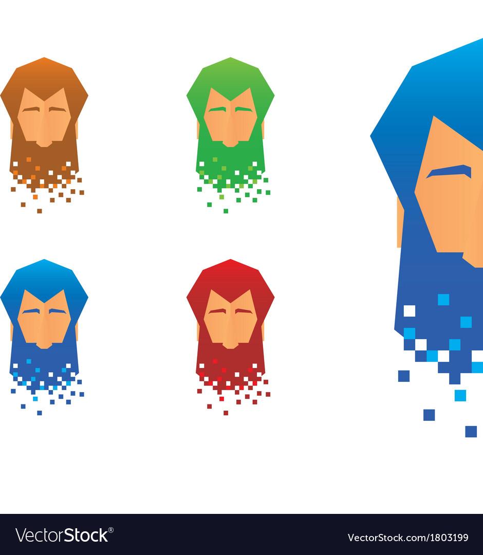 Pixel beard icons vector | Price: 1 Credit (USD $1)