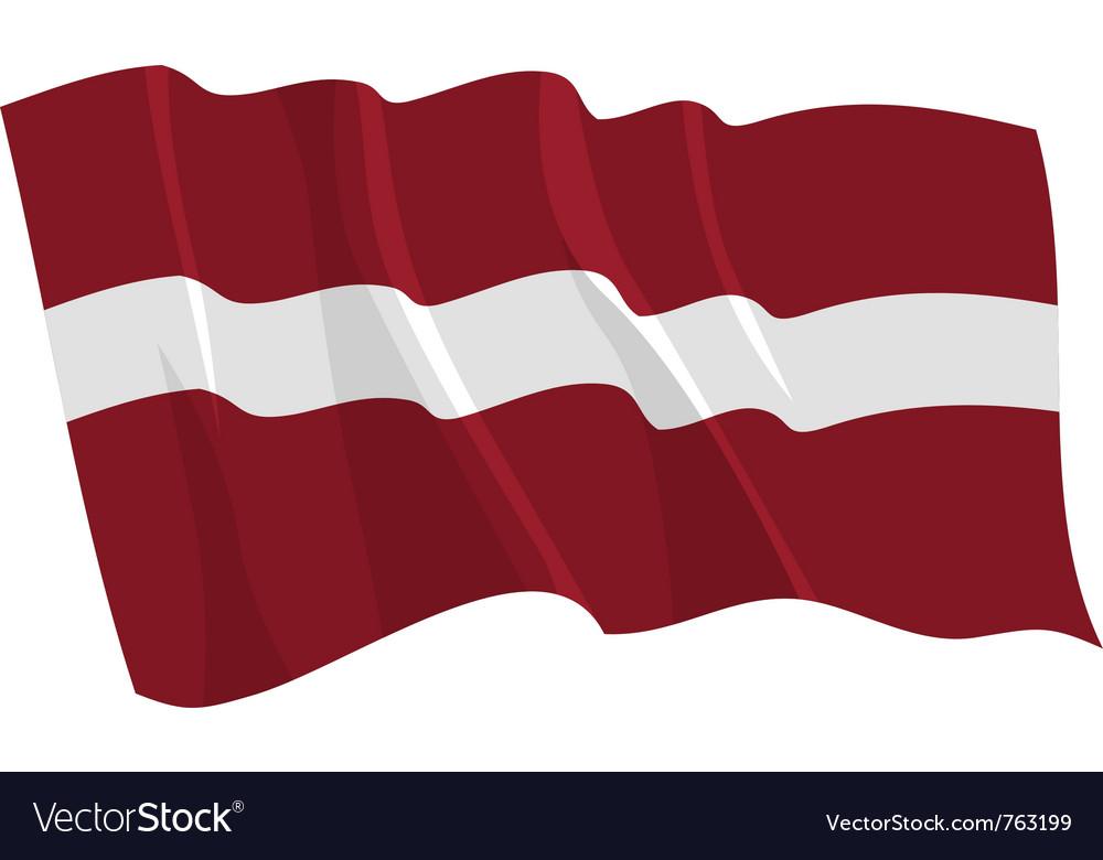 Political waving flag of latvia vector | Price: 1 Credit (USD $1)