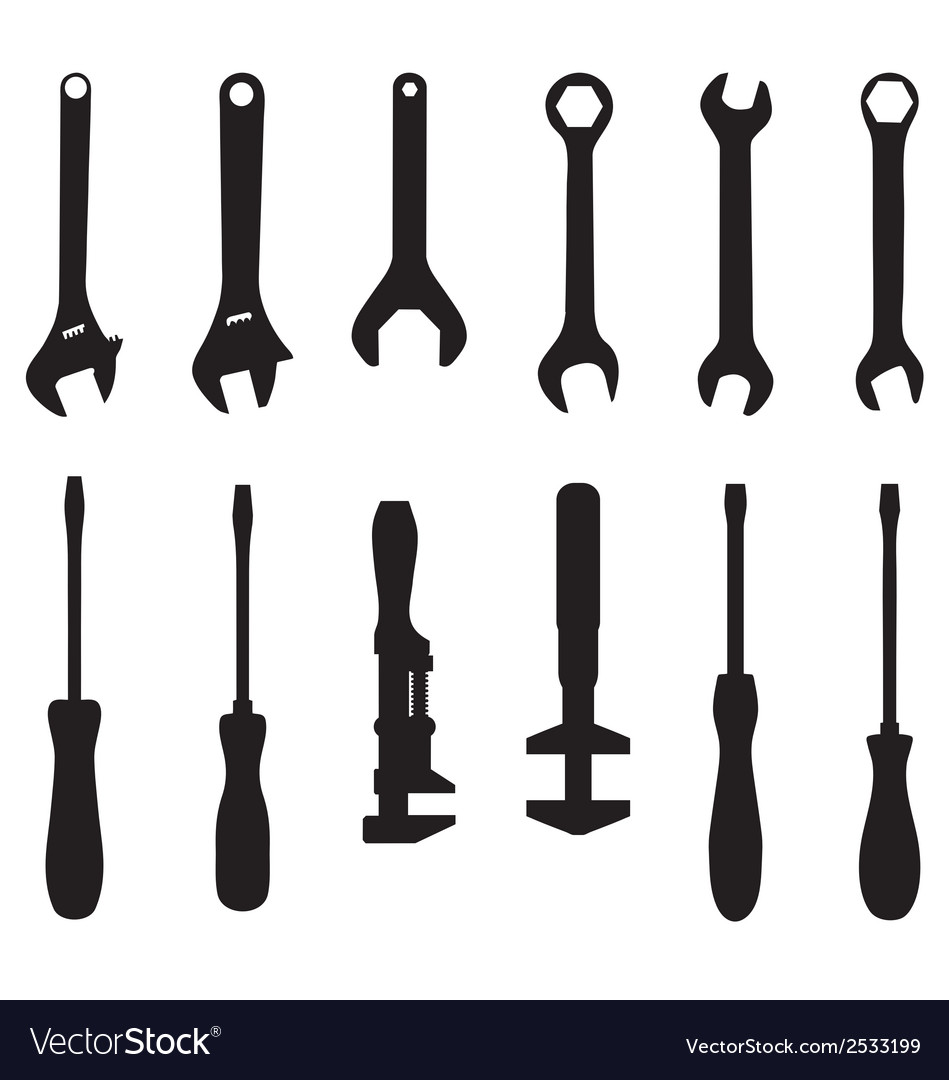 Screwdriver and screw wrench vector | Price: 1 Credit (USD $1)