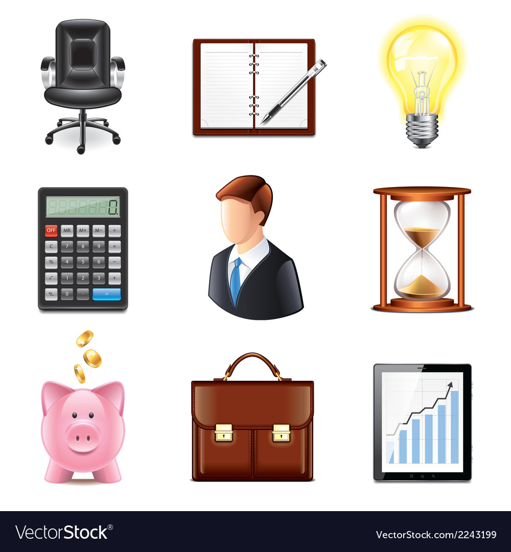 Set business vector | Price: 1 Credit (USD $1)