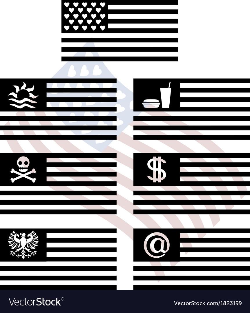 Stencils of fantasy usa flags vector | Price: 1 Credit (USD $1)