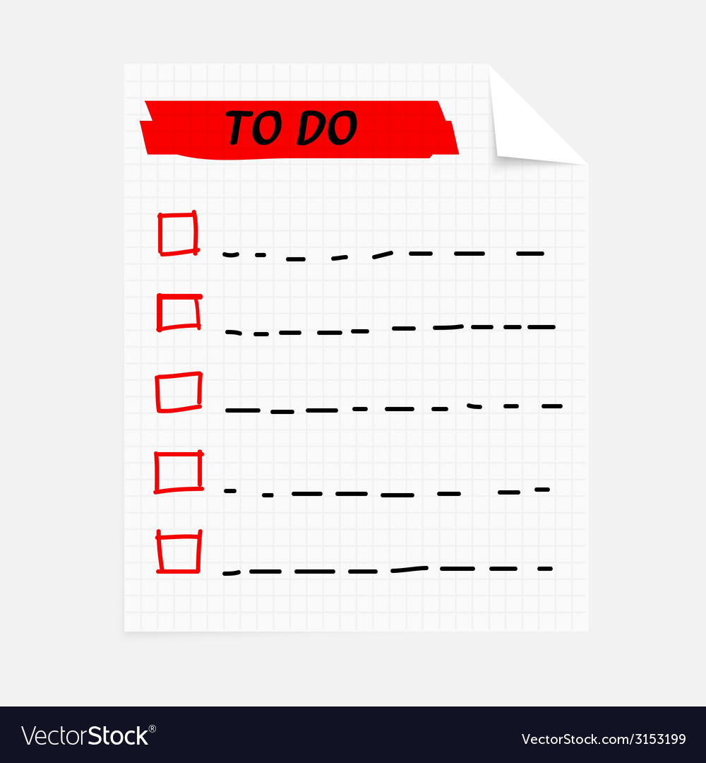 To do note vector | Price: 1 Credit (USD $1)