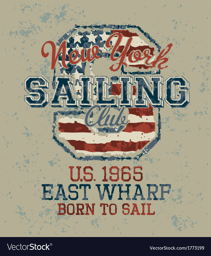 Vintage sailing club vector | Price: 1 Credit (USD $1)