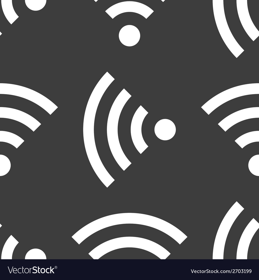 Wi-fi web icon flat design seamless gray pattern vector | Price: 1 Credit (USD $1)