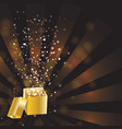 Open magic gift box vector