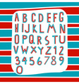 Two tone alphabet vector