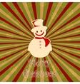 Snowman in christmas card vector