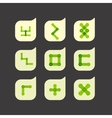 Set of beautiful abstract icons vector