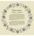 Template for textblock with floral round frame vector