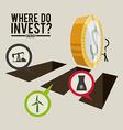 Investment design vector