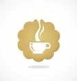 Tea coffee cafe icon abstract logo vector