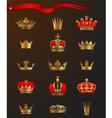 Golden crowns vector