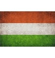 Mosaic flag of hungary vector