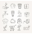 Doodles ecology set vector