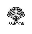 Seafood with shell vector