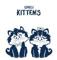 Lovely kittens vector
