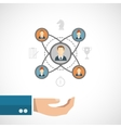 Connected people concept vector