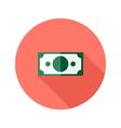 Money banknote circle flat icon vector