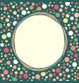Stylish vintage polka dot texture seamless pattern vector