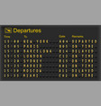 Airport departures board vector