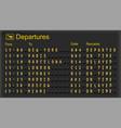 Airport departures board vector