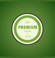 Premium quality assurance sticker vector