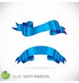 Blue satin ribbons vector