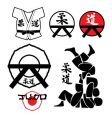 Judo design elements vector