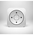 White abstract joystick app icon button template vector