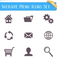 Website menu icons vector
