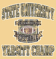 Varsity champ football vector