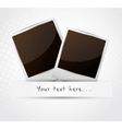 Two photo frame vector