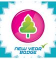 Merry christmas new year badge vector