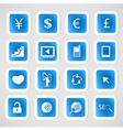 Social color media circles icon network vector