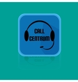 Flat design button call centrum vector